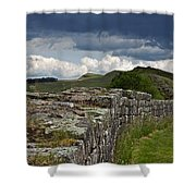 Roman Wall Country Shower Curtain