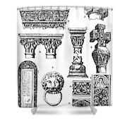 Romanesque Ornament Shower Curtain