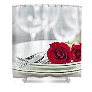 Romantic Dinner Setting Shower Curtain