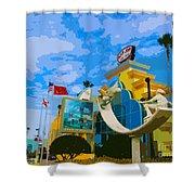 Ron Jon Surf Shop In Cocoa Beach  Shower Curtain