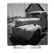 Route 66 Truck And Gas Station Shower Curtain