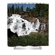 Running Water Glen Alpine Falls Shower Curtain