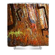 Rust Background Shower Curtain