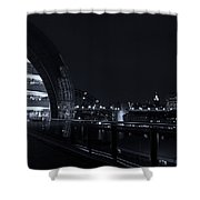 Sage Gateshead At Night Shower Curtain