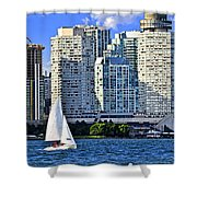 Sailing In Toronto Harbor Shower Curtain