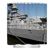 Sailors Man The Rails Shower Curtain