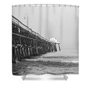 San Clemente Pier Shower Curtain by Ralf Kaiser