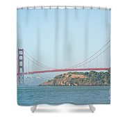 San Francisco Harbour Shower Curtain