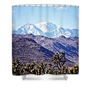 San Gorgonio Mountains Shower Curtain