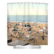 Sand Castles, C1895 Shower Curtain