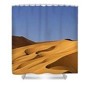 Sand Dune Against Clear Sky Shower Curtain