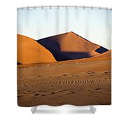 Sand Dunes Against Clear Sky Shower Curtain by Axiom Photographic