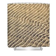Sand Ripples In Shallow Water Shower Curtain