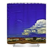 Santa Fe Drive - New Mexico Shower Curtain