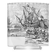 Santa Maria: Wreck, 1492 Shower Curtain by Granger