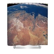 Satellite View Of Planet Earth Shower Curtain
