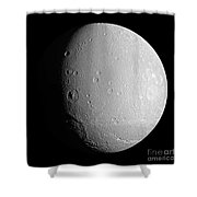 Saturns Moon Dione Shower Curtain