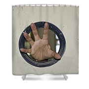 Scary Hand Shower Curtain