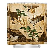 Scenes From The Tale Of Genji Shower Curtain