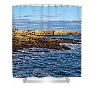 Schoodic Point Acadia National Park Shower Curtain