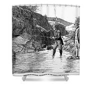 Scotland: Fishing, 1880 Shower Curtain