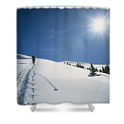 Scott Cooper Backcountry Skiing Shower Curtain