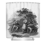 Scott: Ivanhoe, 1832 Shower Curtain