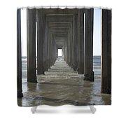 Scripps Pier La Jolla California 5 Shower Curtain