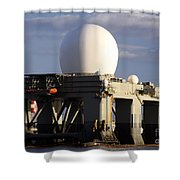 Sea Based X-band Radar Dome Modeled Shower Curtain