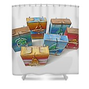 Sea Boxes Shower Curtain