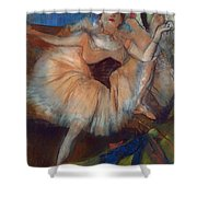 Seated Dancer Shower Curtain by Edgar Degas