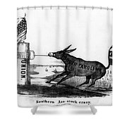 Secession Cartoon, 1861 Shower Curtain