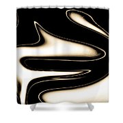 Sepia Steel Abstract Shower Curtain