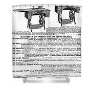 Sewing Machine Ad, 1895 Shower Curtain
