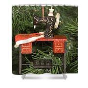 Sewing Machine Ornament Shower Curtain