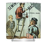 Sewing Machine Trade Card Shower Curtain by Granger