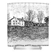 Shays Rebellion, 1787 Shower Curtain