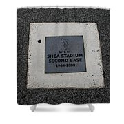 Shea Stadium Second Base Shower Curtain