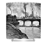 Sheffield, England, 1884 Shower Curtain