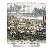 Shreveport Levee, 1872 Shower Curtain