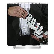 Shuffling Cards Shower Curtain