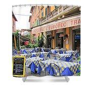 Sidewalk Cafe In Italy Shower Curtain