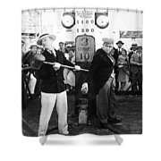 Silent Film: Amusement Park Shower Curtain