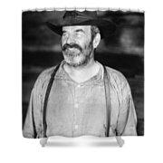 Silent Film Still: Beards Shower Curtain