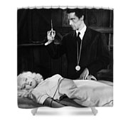 Silent Film Still: Doctor Shower Curtain