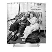 Silent Film Still: Ships Shower Curtain