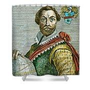 Sir Francis Drake (1540?-1596) Shower Curtain