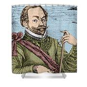 Sir Francis Drake, English Explorer Shower Curtain
