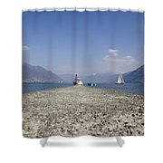 Small Port Shower Curtain