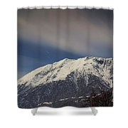 Snow-capped Alps Shower Curtain
